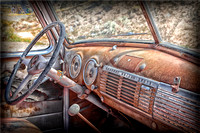 Old Truck dashboard near Earthship