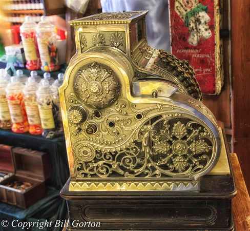 Cash register in sweet shop